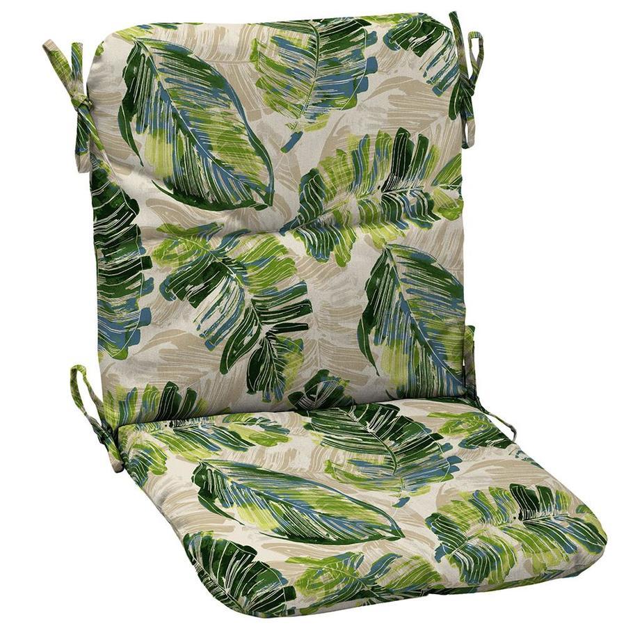 Garden Treasures Palm Leaf Patio Chair Cushion At Lowes Com
