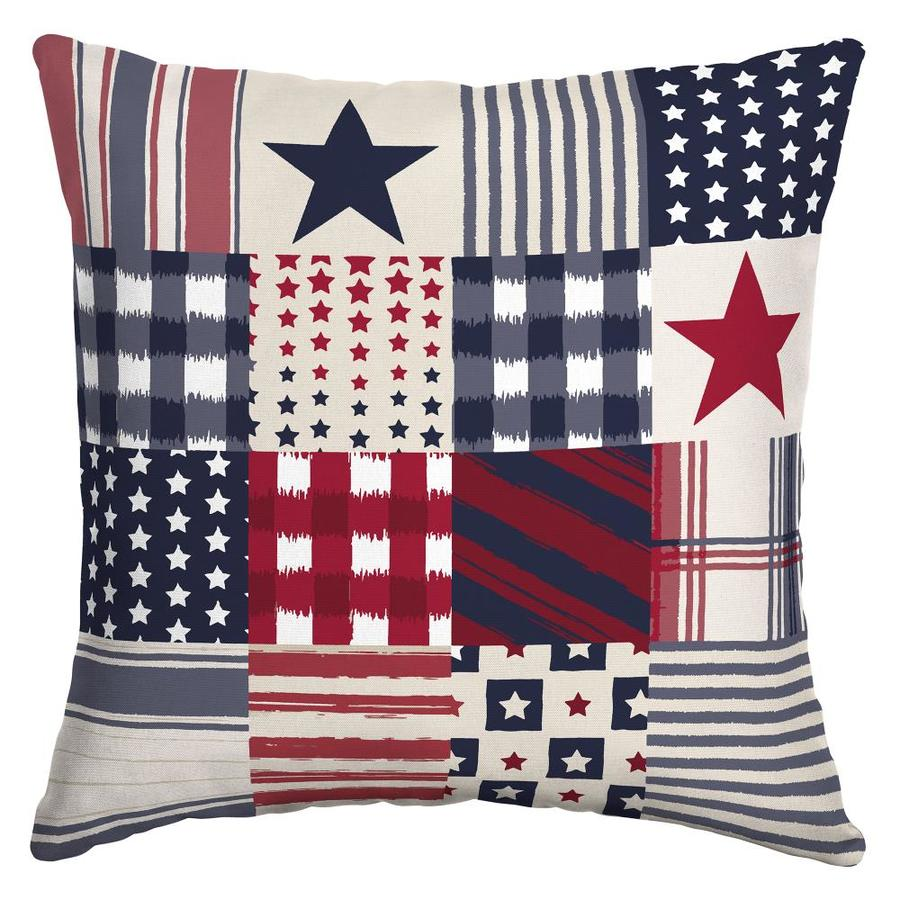 Arden Outdoor Patriotic Patchwork Throw Pillow At Lowes Com