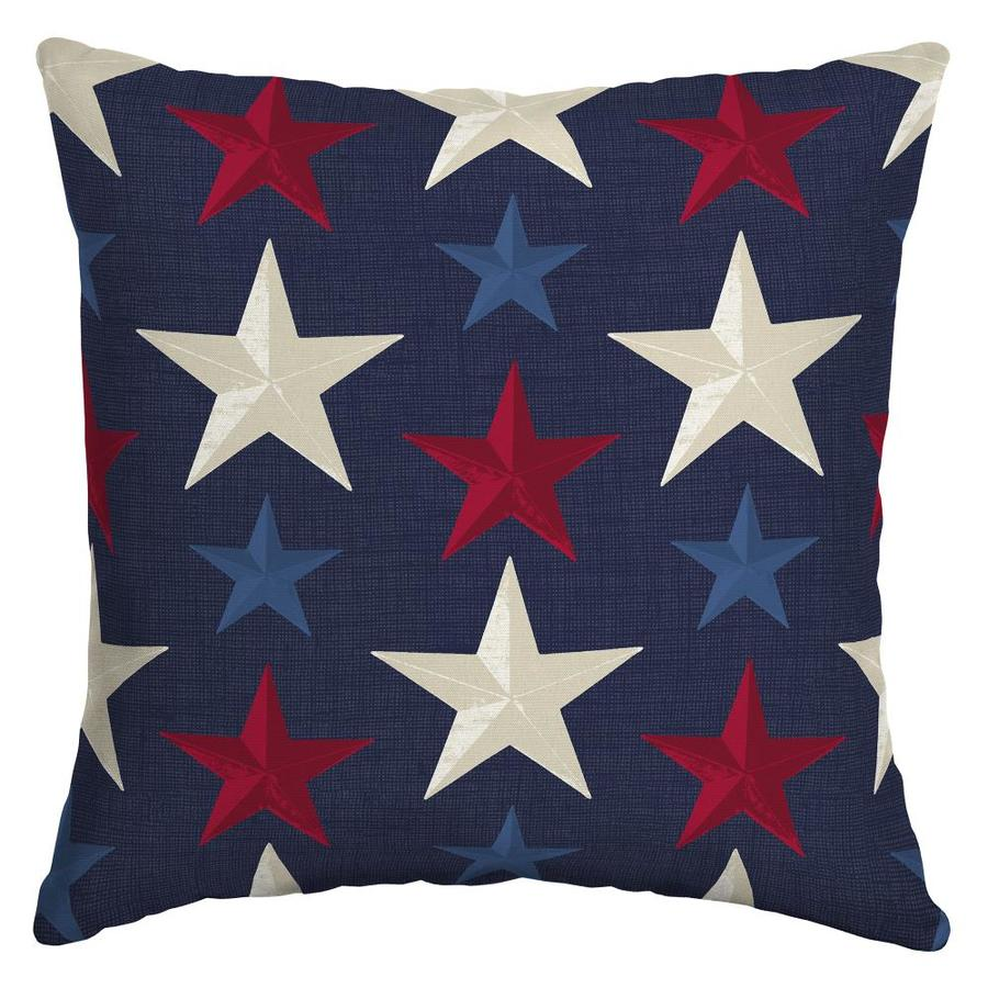 Arden Outdoor Patriotic Stars Throw Pillow At Lowes Com