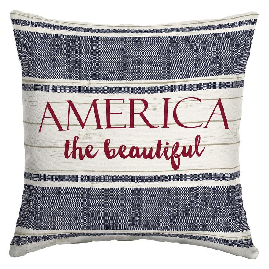 Arden Outdoor America The Beautiful Throw Pillow At Lowes Com