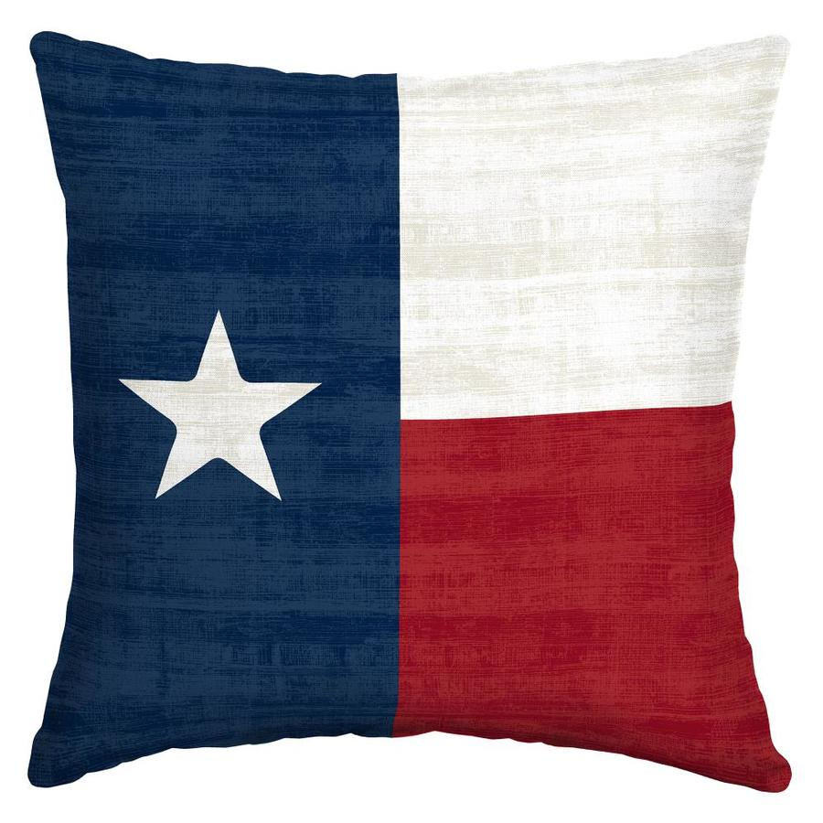 Arden Outdoor Texas Flag Throw Pillow At Lowes Com