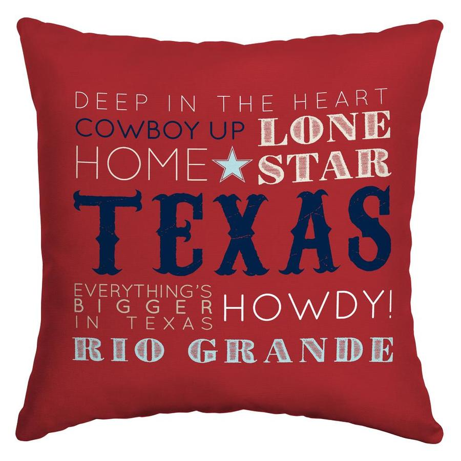 Arden Outdoor Texas Words Throw Pillow At Lowes Com