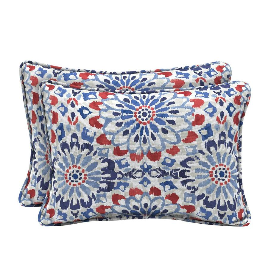 Arden Selections 2 Pack Graphic Print Red White Blue Rectangular Lumbar Pillow In The Outdoor Decorative Pillows Department At Lowes Com