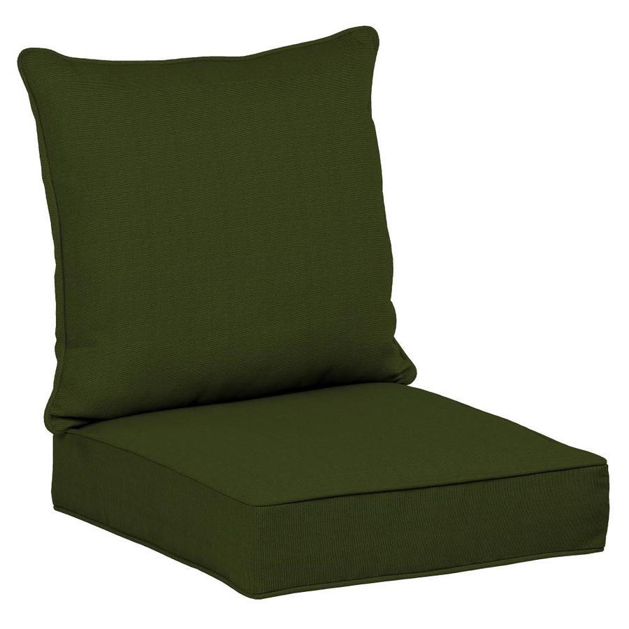 Allen Roth 2 Piece Panama Green Deep Seat Patio Chair