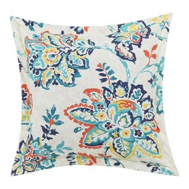 allen + roth Damask Pardee Jacobean Square Throw Pillow