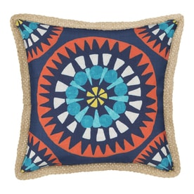 5e6a7724289 allen + roth Geometric Sunrise Medallion Square Throw Pillow