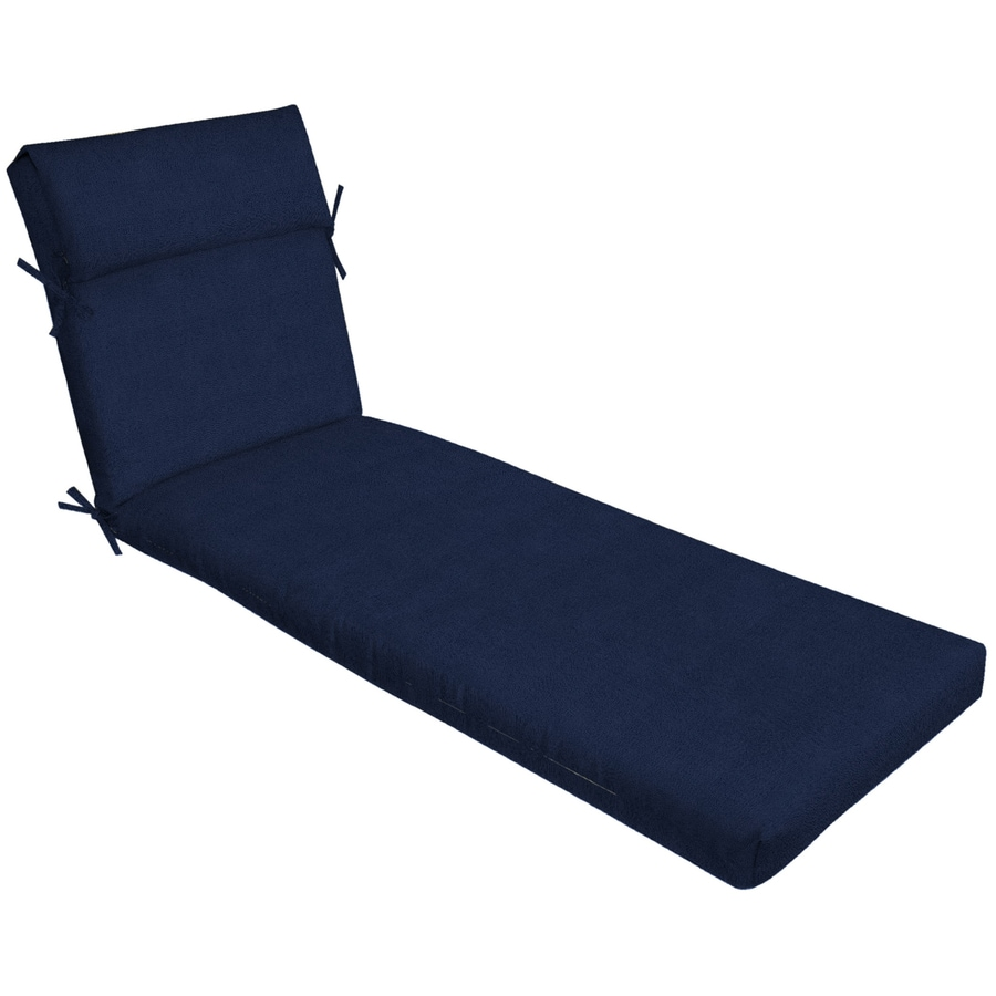 allen + roth Madera Linen Navy Patio Chaise Lounge Chair Cushion  sc 1 st  Loweu0027s & Allen + roth Madera Linen Navy Patio Chaise Lounge Chair Cushion at ...