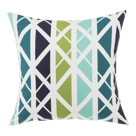 Garden Treasures Geometric Levi Lattice Blue Square Throw Pillow