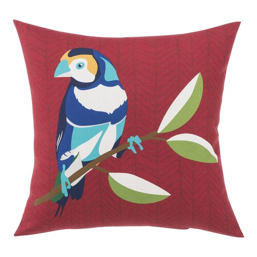 Garden Treasures Solid Colorblock Finch Red Square Throw Pillow In The Outdoor Decorative Pillows Department At Lowes Com