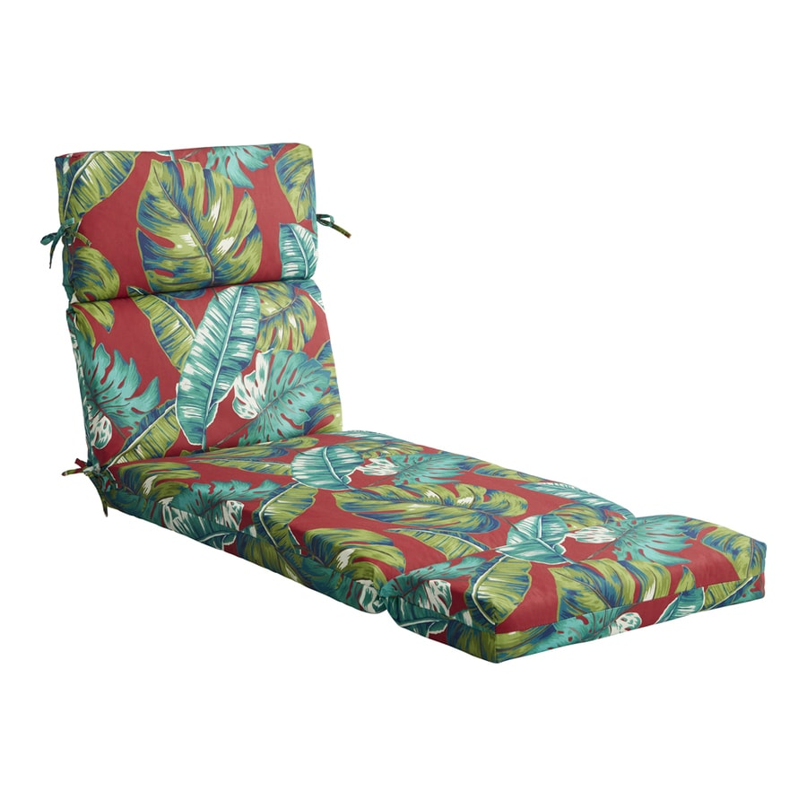 Garden treasures laguna palm patio chaise lounge chair - Garden treasures replacement cushions ...
