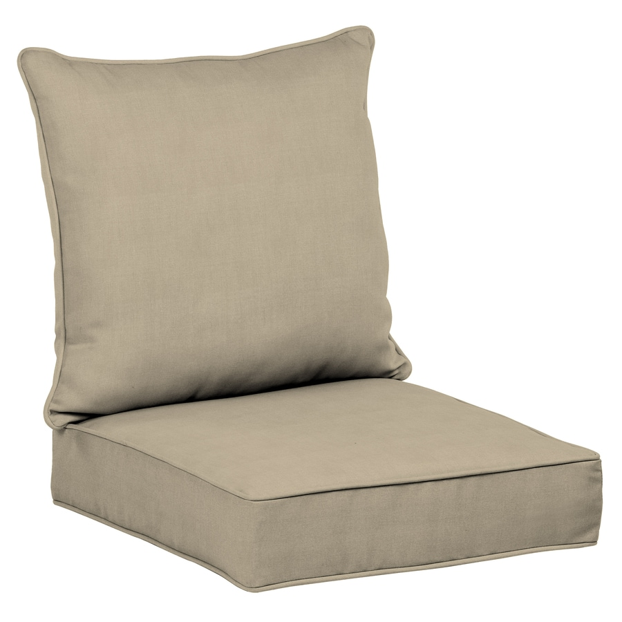 allen roth 2 piece madera linen wheat deep seat patio chair cushion at. Black Bedroom Furniture Sets. Home Design Ideas