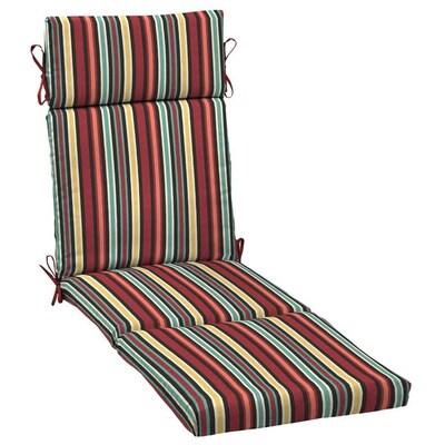 Ruby Multi Abella Stripe Patio Chaise Lounge Chair Cushion