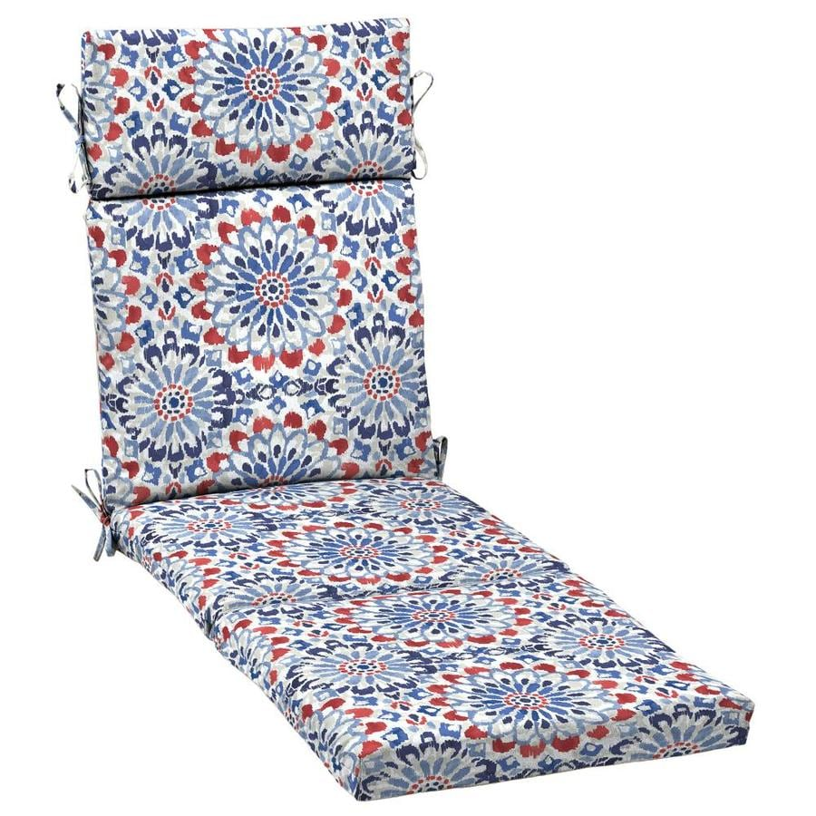 arden selections 1 piece red white blue patio chaise lounge chair cushion at. Black Bedroom Furniture Sets. Home Design Ideas