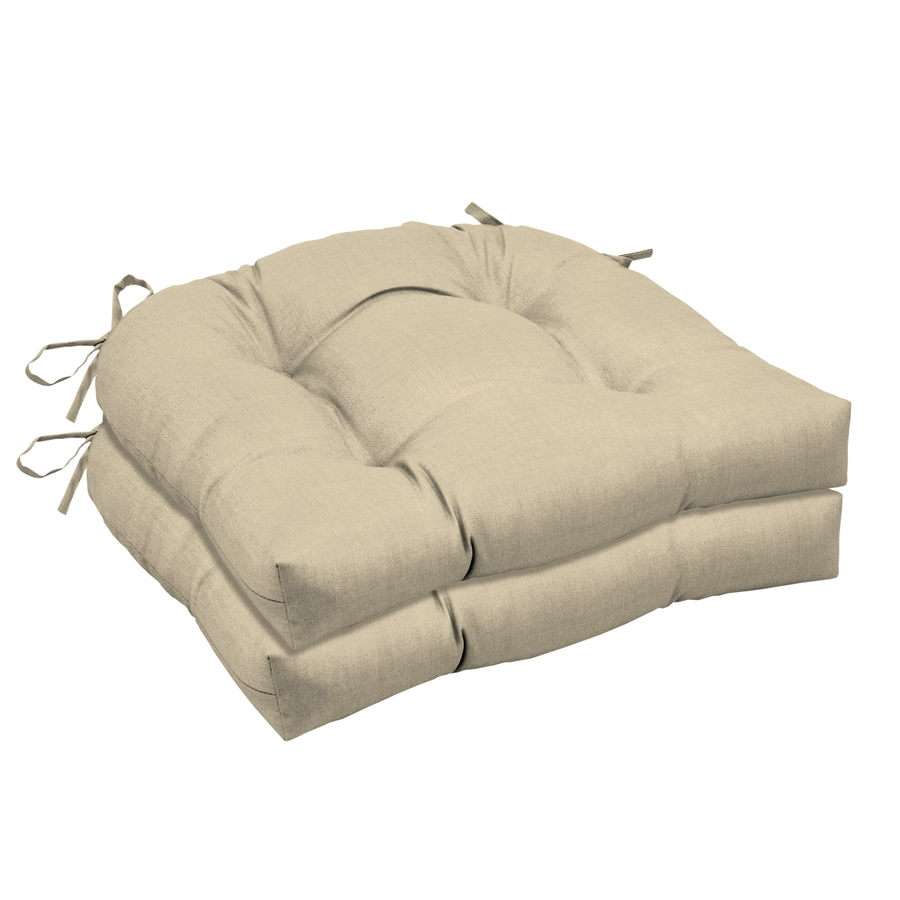 2 Pack Indoor Outdoor Cushion Seat Office Chair Pad Ties Garden Dining Yard