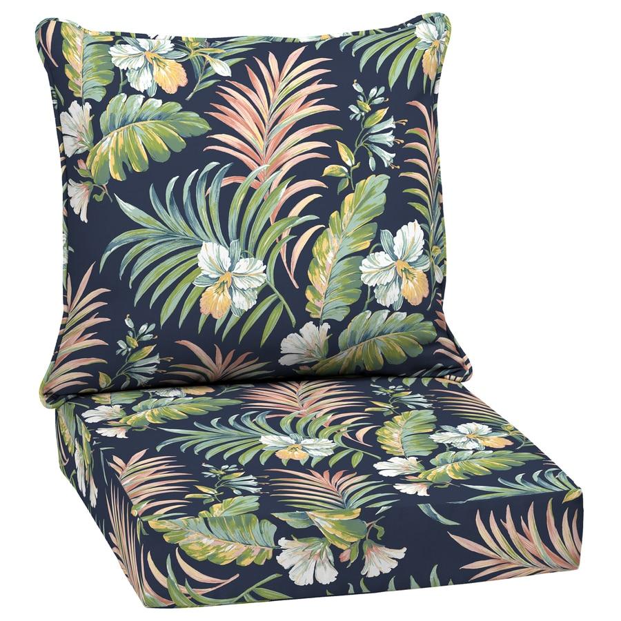 Cushion Outdoor Celia Silver Grey Tropical Island Beach Coastal Botanical Palm Tree Piping