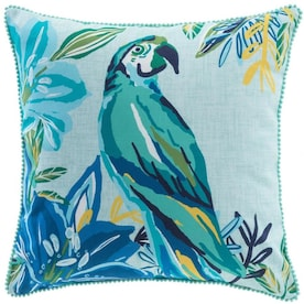 allen + roth Floral Blue, Yellow, Teal Square Throw Pillow