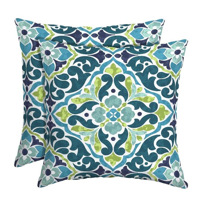 Style Selections 2 Pack Geometric Cream, Ground, Teal, Green, Navy