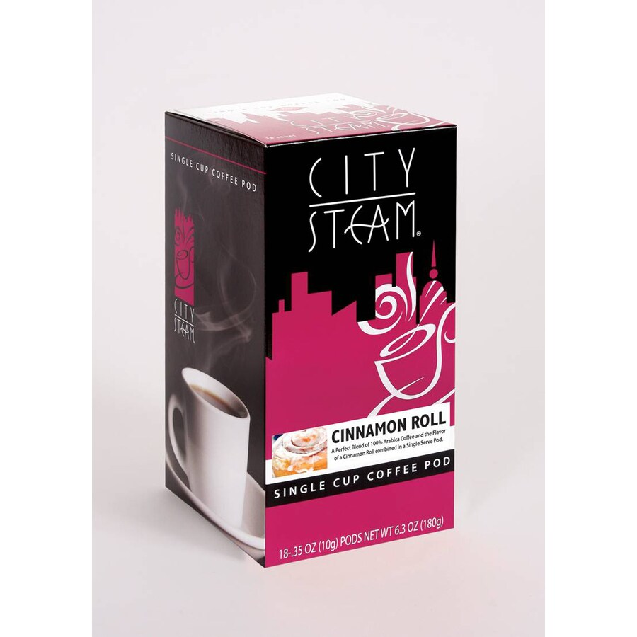City Steam 18-Pack City Steam Cinnamon Roll Single-Serve Coffee