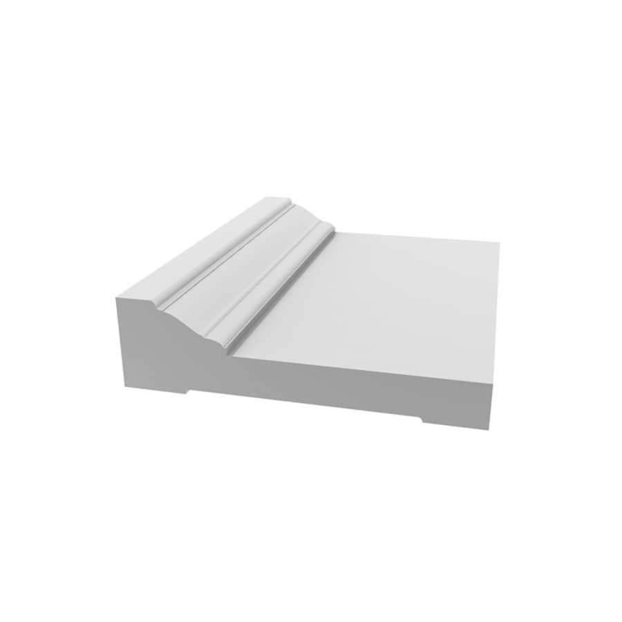 Shop Royal Mouldings Limited 4 5 In X 12 Ft Exterior Pvc Backband Window And Door Casing At