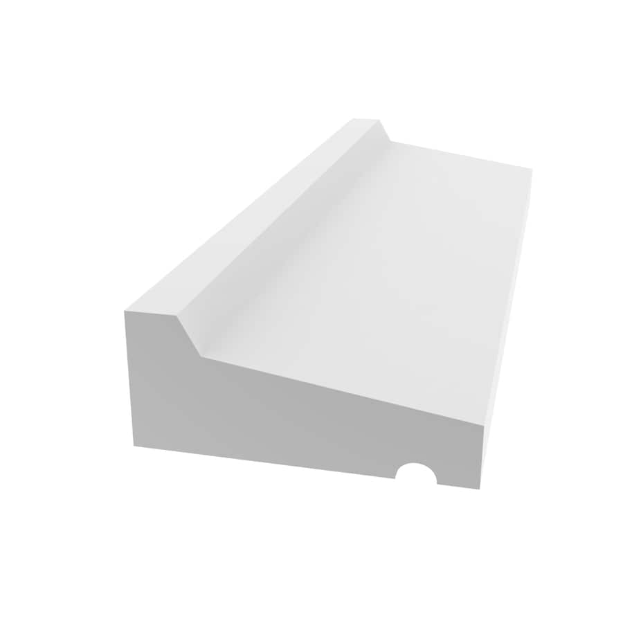 Shop Evertrue X 12 Ft Interior Exterior Prefinished Pvc Drip Cap Window Moulding At