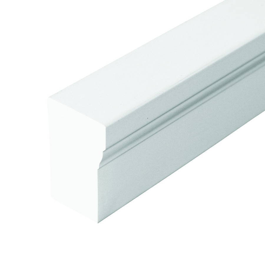 Shop Evertrue 2 In X 10 Ft Interior Exterior Prefinished Pvc Brick Window And Door Casing At