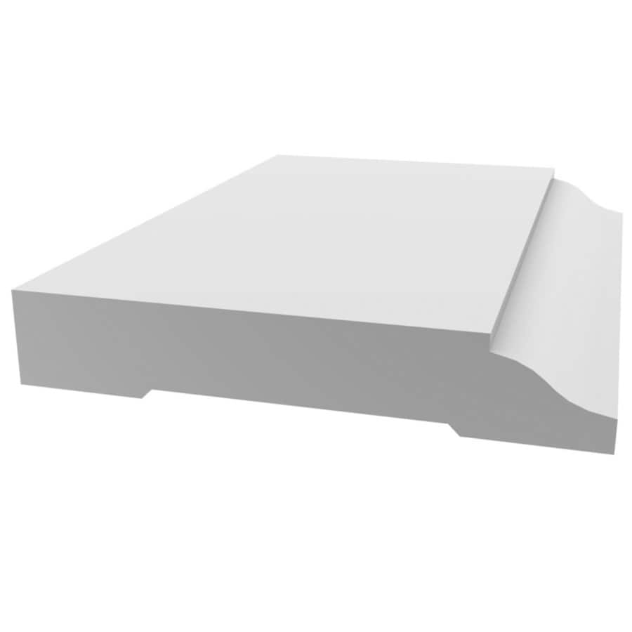 Royal Building Products 3 25 In X 12 Ft Interior Exterior Prefinished Pvc Baseboard