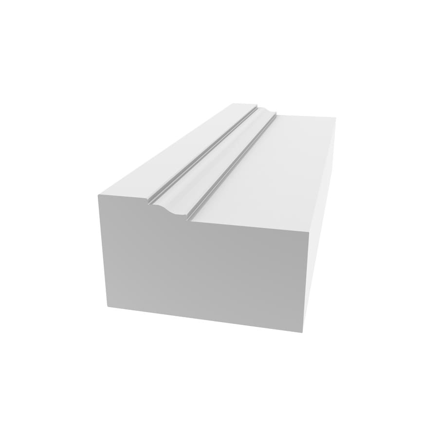 Shop Royal Mouldings Limited 2 In X 17 Ft Interior Exterior Pvc Brick Window And Door Casing At