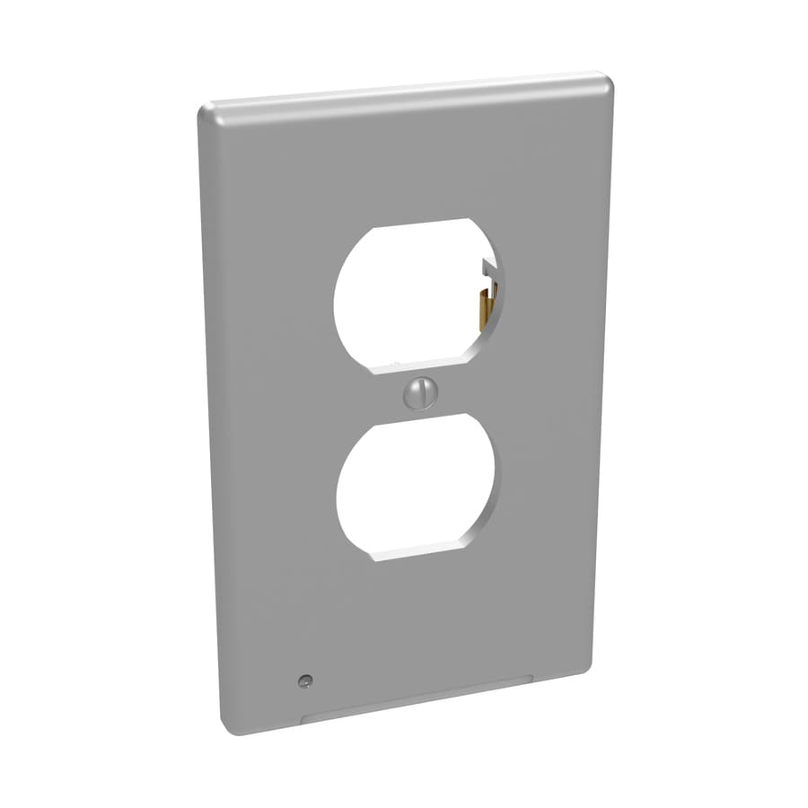 Westek Lumicover 2 Gang Nickel Double Duplex Lighted Standard Wall Plate In The Wall Plates Department At Lowes Com