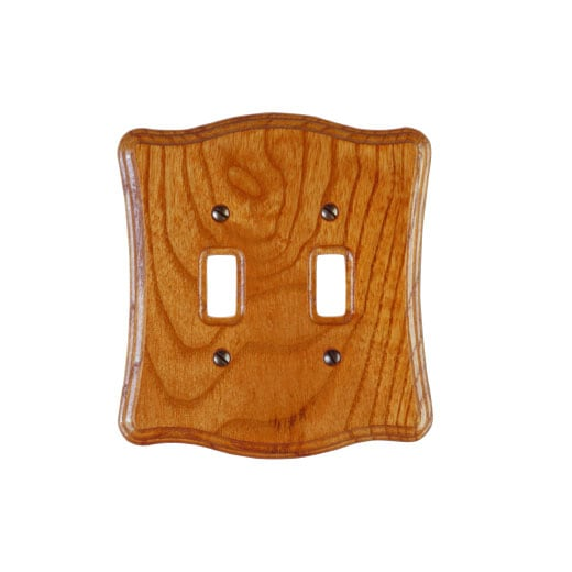 American Tack & Hardware Genuine Oak Double Toggle Wall Plate at