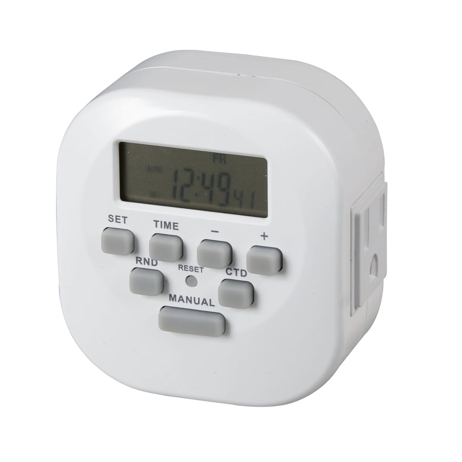 Utilitech Digital Timer With 2 Grounded Outlets And Countdown