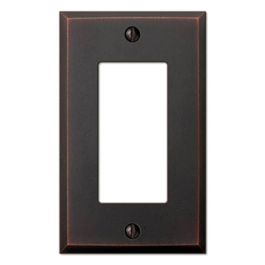 allen + roth 1-Gang Aged Bronze Decorator Rocker Metal Wall Plate