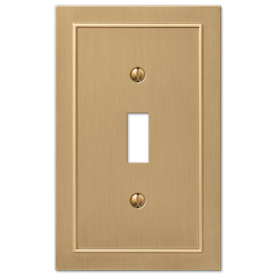 allen + roth Bethany 1-Gang Champagne Bronze Toggle Wall Plate