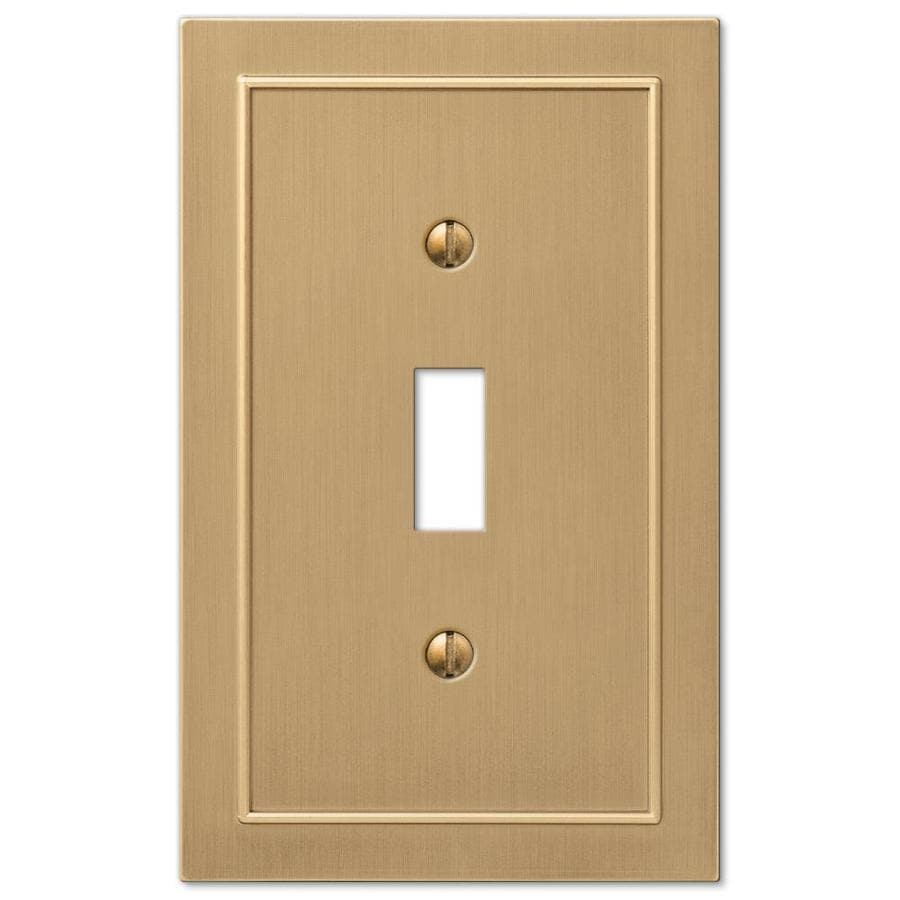 allen + roth Bethany 1-Gang Champagne bronze Single Toggle Wall Plate