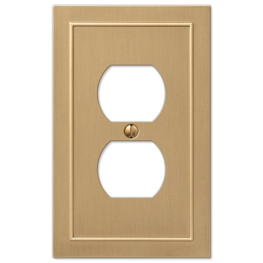 allen + roth Bethany 1-Gang Champagne Bronze Duplex Wall Plate