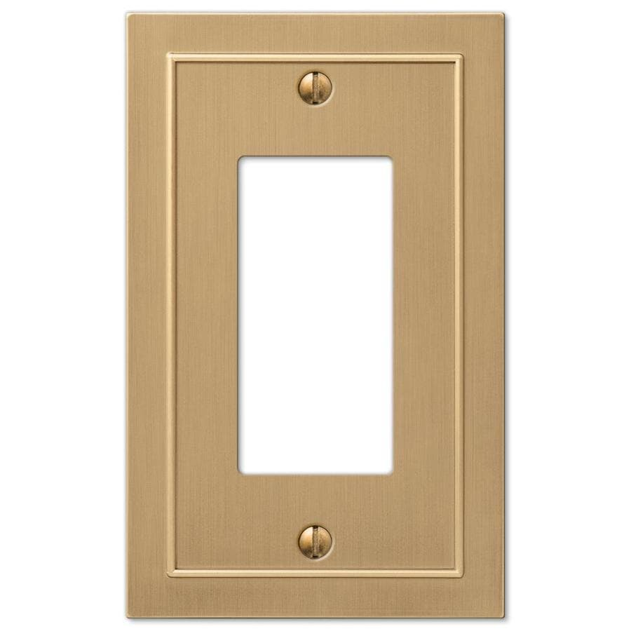 allen + roth Bethany 1-Gang Champagne bronze Single Decorator Wall Plate