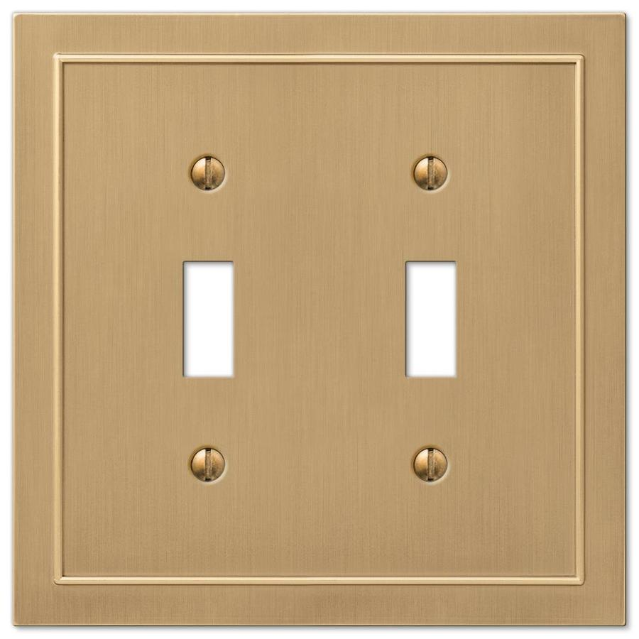 allen + roth Bethany 2-Gang Champagne bronze Double Toggle Wall Plate