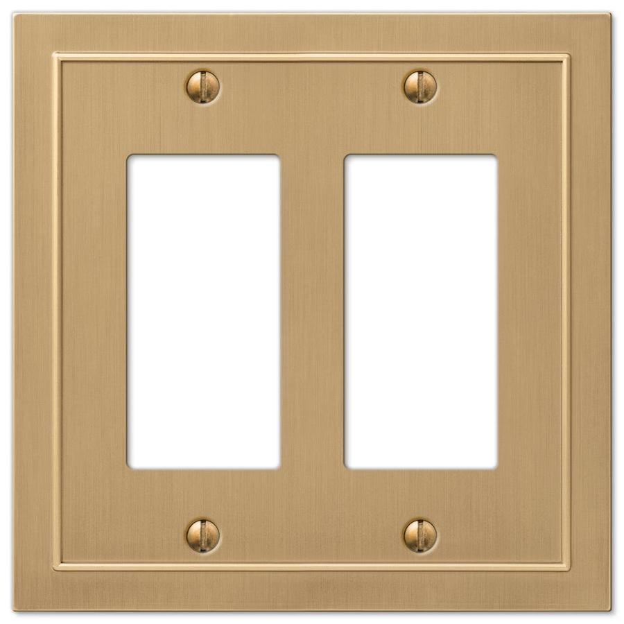 Shop allen + roth Bethany 2-Gang Champagne bronze Double Decorator ...