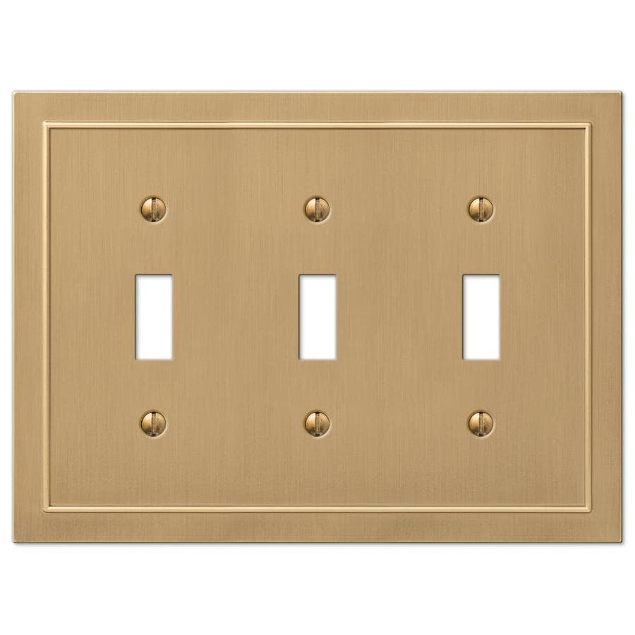 allen + roth Bethany 3-Gang Champagne bronze Triple Toggle Wall Plate