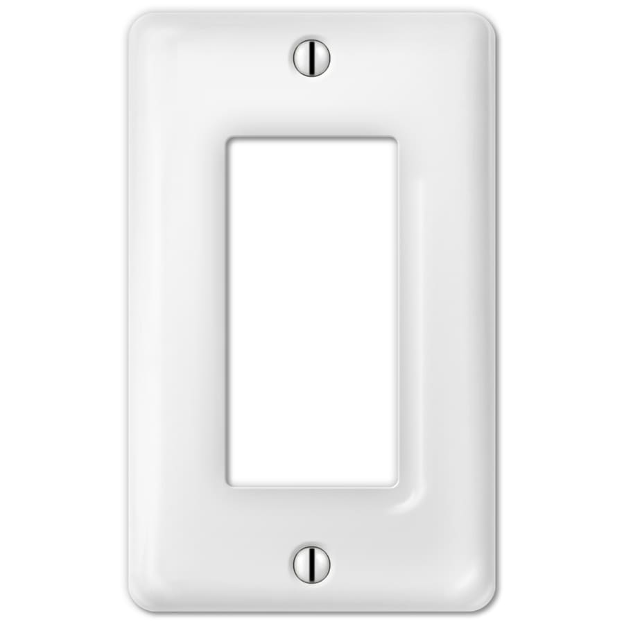 Style Selections Ceramic 1-Gang White Decorator Wall Plate