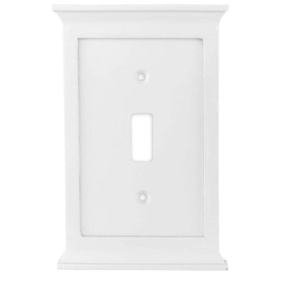 allen + roth Capitol 1-Gang White Single Toggle Wall Plate