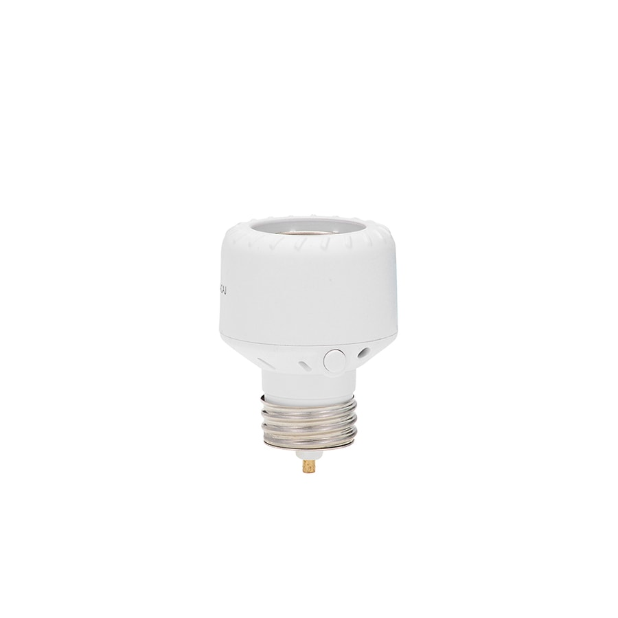 Shop motion light sensor adapters at lowes amertac white screw in light sensor aloadofball Choice Image