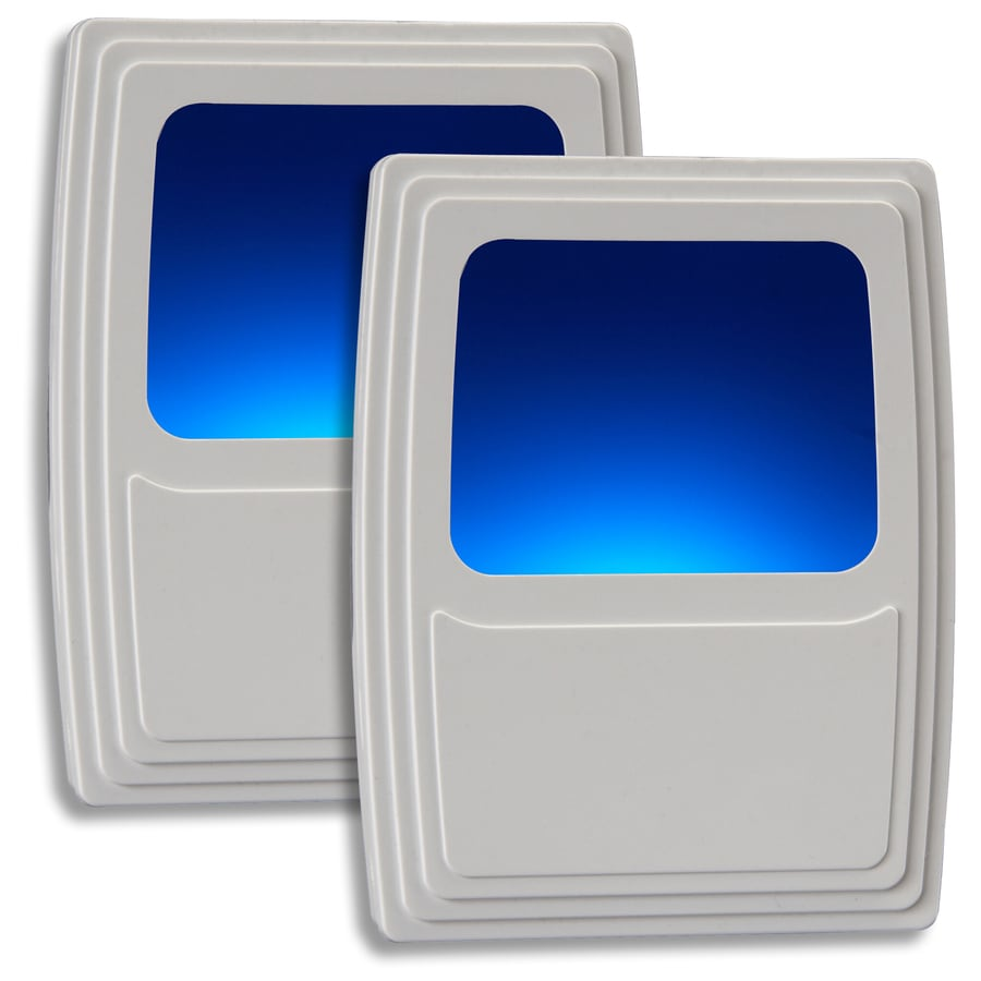 AmerTac 2-Pack White LED Night Light