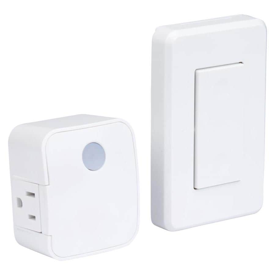 Shop Utilitech White Remote Control Outlet At The Switch Boxes One For Each Set Of Lights On A Three Way Pair