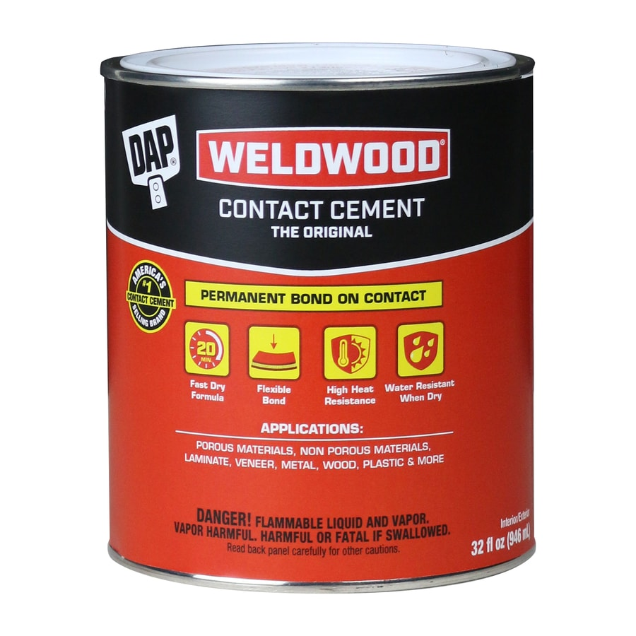 DAP Weldwood Off-White Interior/Exterior Contact Cement Construction Adhesive (Actual Net Contents: 32-fl oz)