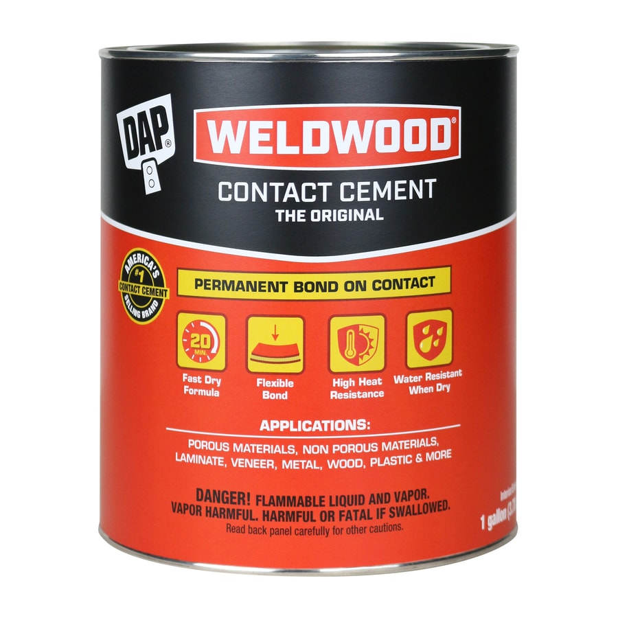DAP Weldwood Off-White Interior/Exterior Contact Cement Construction Adhesive (Actual Net Contents: 128-fl oz)