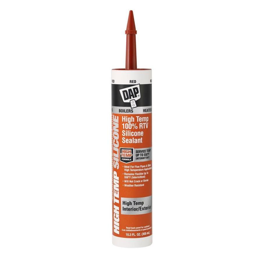 High Temp Sealant >> Dap High Temp 100 Rtv Silicone Sealant 10 3 Fl Oz Red Duct Sealant