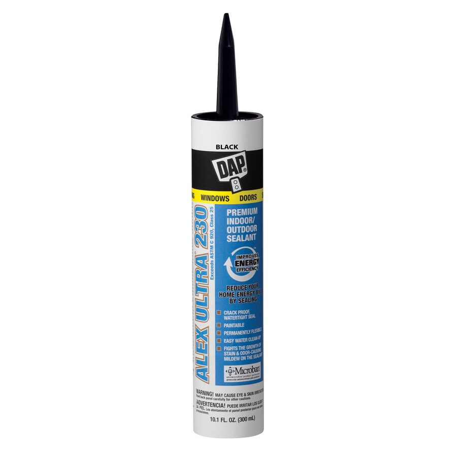 DAP 10.1-oz Black Paintable Latex Window and Door Caulk