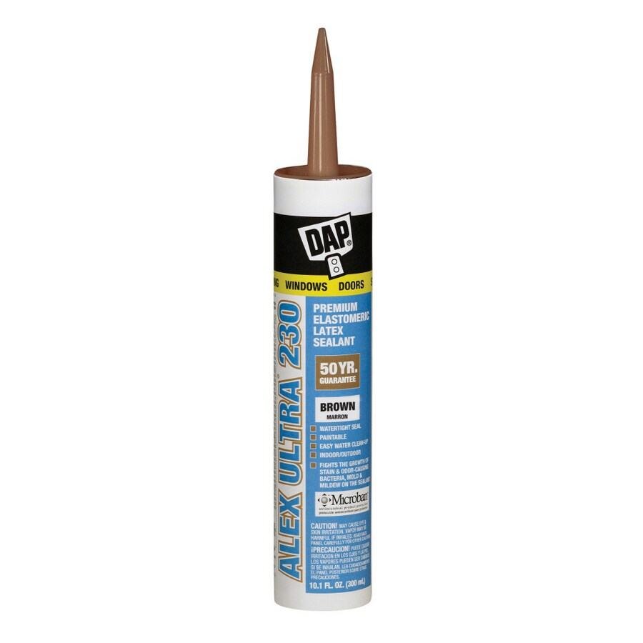 DAP 10.1-oz Brown Paintable Latex Window and Door Caulk