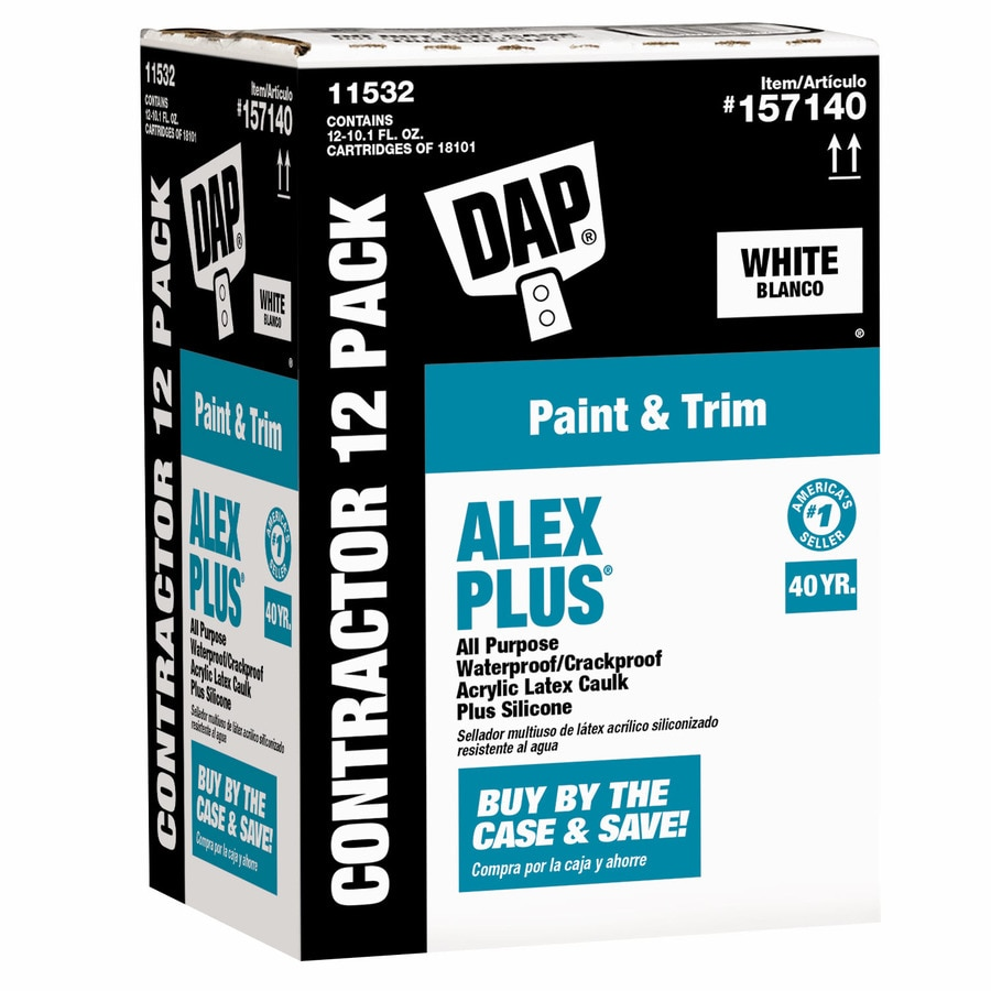 DAP ALEX Plus 121.2-oz White Paintable Latex Window and Door Caulk