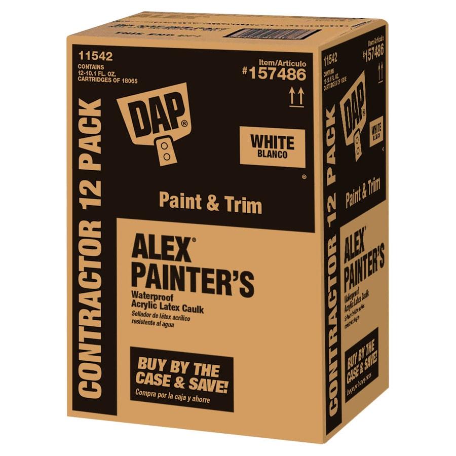 DAP Alex 12-Pack 10.1-oz White Paintable Latex Caulk
